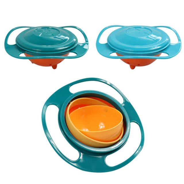 Tazón antideslizante con giroscopio para bebés