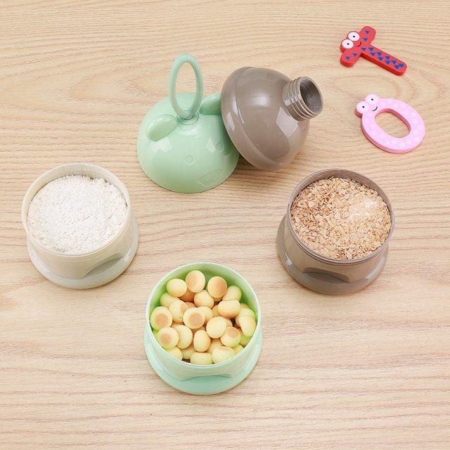 Recipientes de comida para bebé estilo rana para el viaje