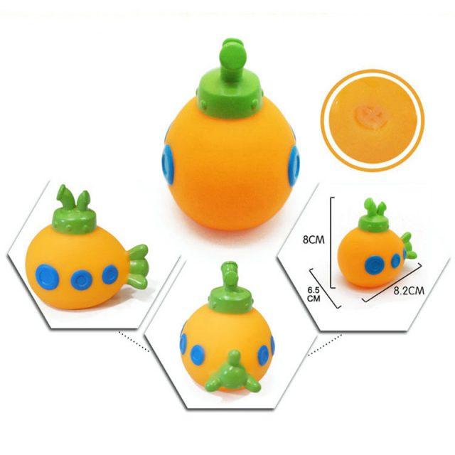 Juguetes de baño de goma blandos para niños