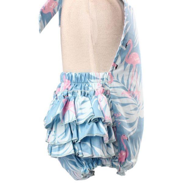 Conjunto de diadema y vestido estampado para verano