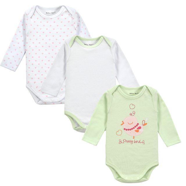Body de algodón de manga larga para bebé