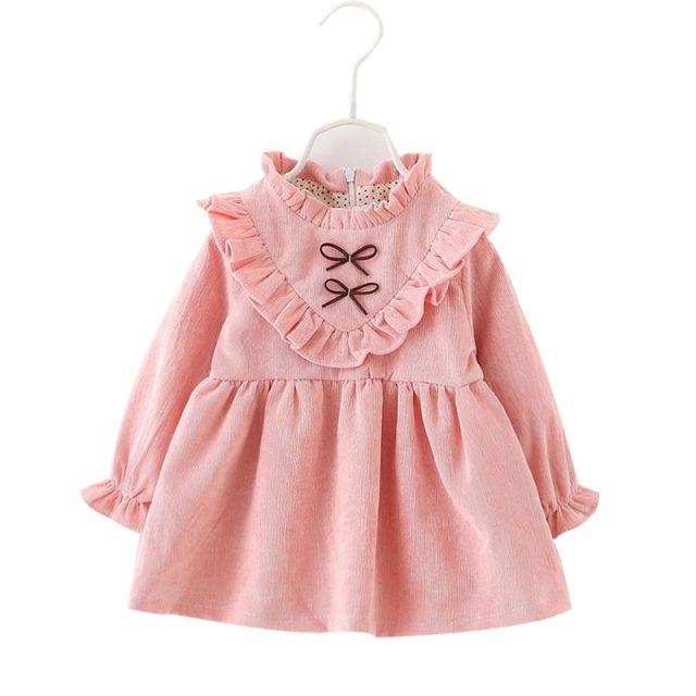 Preciosos vestidos de manga larga para niña
