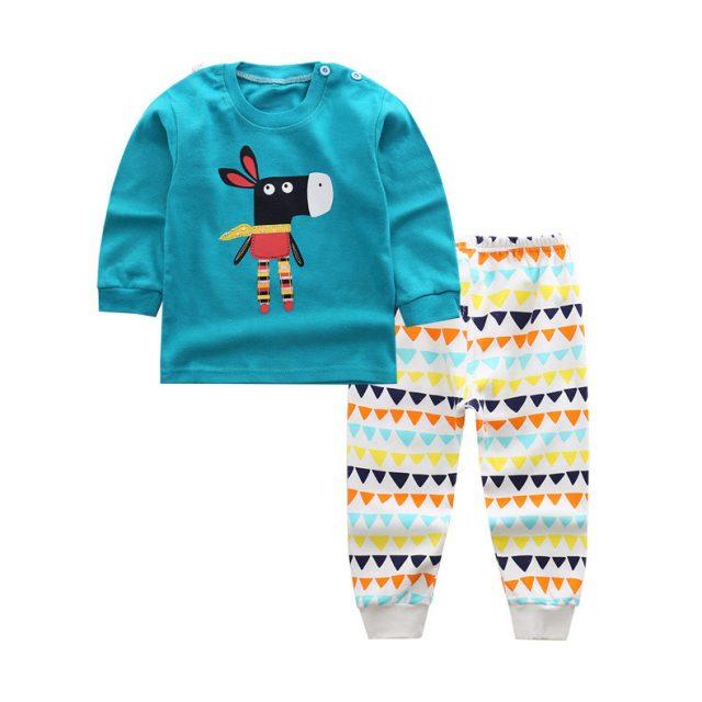 Conjunto de ropa de algodón de manga larga