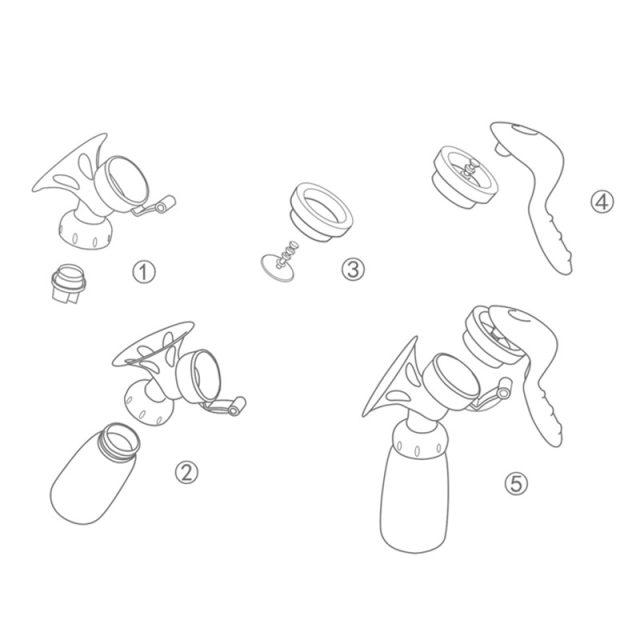Extractor manual de leche ecológico