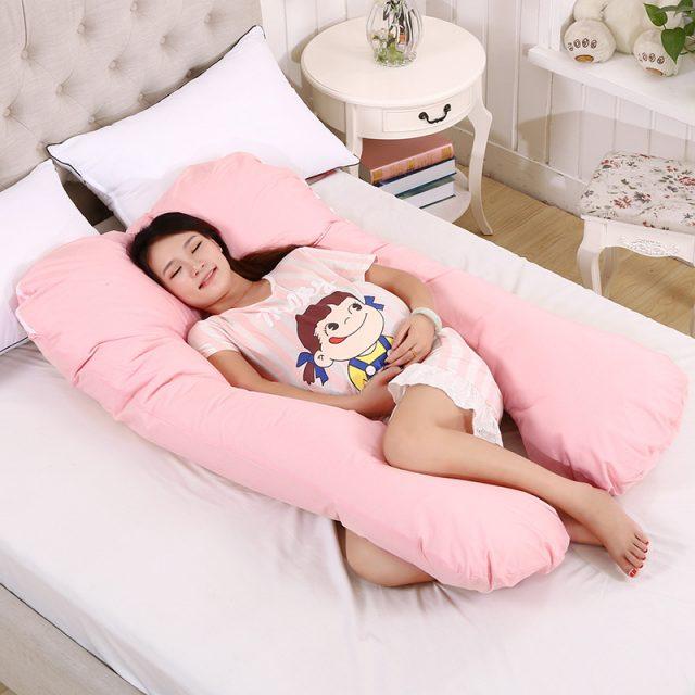 Almohada en forma de U para mujeres embarazadas