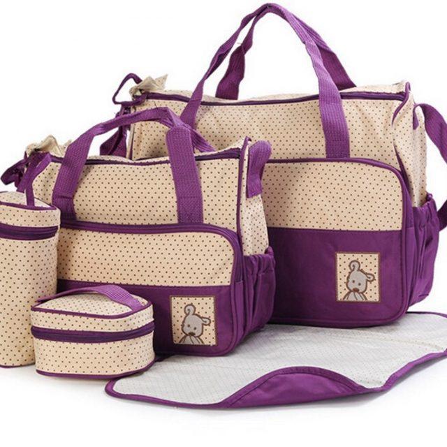 Conjunto de 5 piezas de viaje para llevar los utensilios del bebé